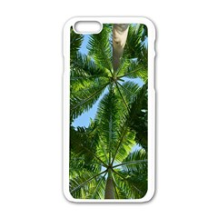 Paradise Under The Palms Apple Iphone 6/6s White Enamel Case by CrypticFragmentsColors