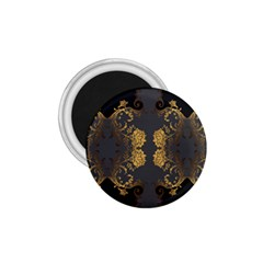 Beautiful Black And Gold Seamless Floral  1 75  Magnets by flipstylezdes