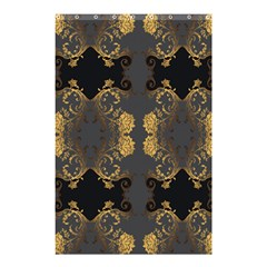 Beautiful Black And Gold Seamless Floral  Shower Curtain 48  X 72  (small)