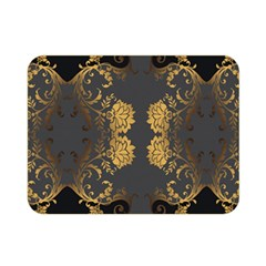 Beautiful Black And Gold Seamless Floral  Double Sided Flano Blanket (mini)  by flipstylezdes
