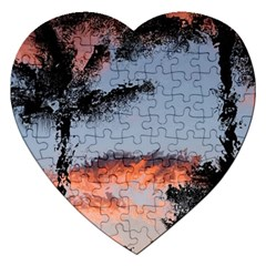 Beautiful Tropics Painting By Kiekie Strickland  Jigsaw Puzzle (heart) by flipstylezdes