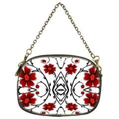Beautiful Red Flowers Seamless Chain Purses (one Side)  by flipstylezdes