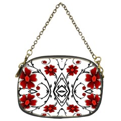 Beautiful Red Flowers Seamless Chain Purses (two Sides)