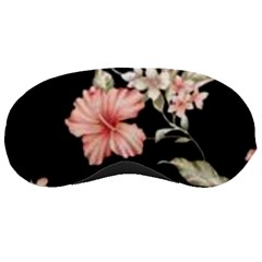 Beautiful Tropical Black Pink Florals  Sleeping Masks