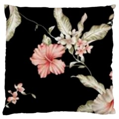Beautiful Tropical Black Pink Florals  Standard Flano Cushion Case (two Sides) by flipstylezdes
