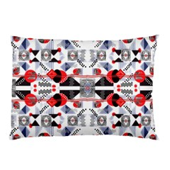 Creative Geometric Red And Black Design Pillow Case