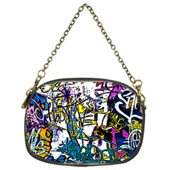 Graffiti Wall Cartoon Style Art Chain Purses (one Side)