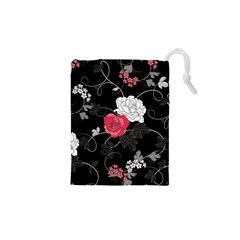 Elegant Pink Roses Drawstring Pouches (xs)  by flipstylezdes