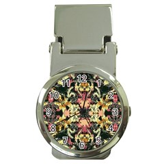 Beautiful Seamless Brown Tropical Flower Design  Money Clip Watches by flipstylezdes