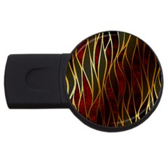 Snake In The Grass Red And Black Seamless Design Usb Flash Drive Round (4 Gb)