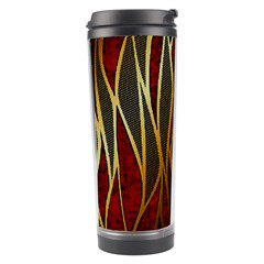 Snake In The Grass Red And Black Seamless Design Travel Tumbler