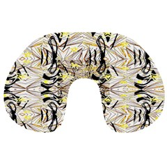 Retro Seamless Black And Gold Design Travel Neck Pillows by flipstylezdes