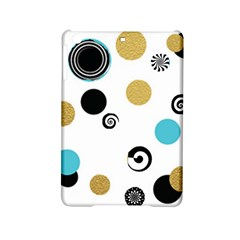 Fun Retro Blue Gold Circles  Ipad Mini 2 Hardshell Cases by flipstylezdes
