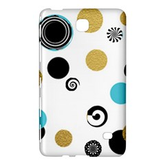 Fun Retro Blue Gold Circles  Samsung Galaxy Tab 4 (8 ) Hardshell Case  by flipstylezdes