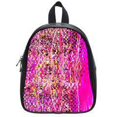 Hot Pink Mess Snakeskin Inspired  School Bag (small)