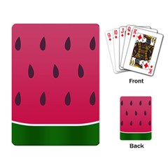 Watermelon Fruit Summer Red Fresh Playing Card by Nexatart