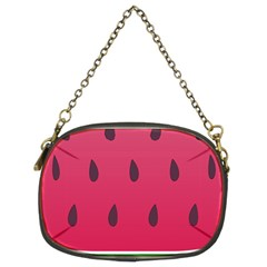 Watermelon Fruit Summer Red Fresh Chain Purses (two Sides)
