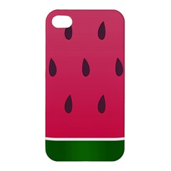 Watermelon Fruit Summer Red Fresh Apple Iphone 4/4s Premium Hardshell Case