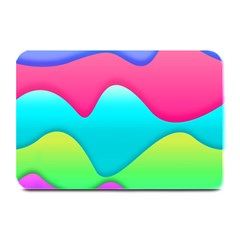 Lines Curves Colors Geometric Lines Plate Mats by Nexatart