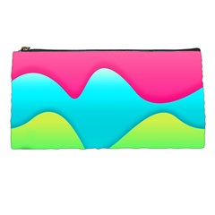 Lines Curves Colors Geometric Lines Pencil Cases by Nexatart