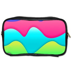 Lines Curves Colors Geometric Lines Toiletries Bags 2 Side