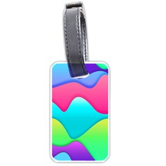 Lines Curves Colors Geometric Lines Luggage Tags (one Side)  by Nexatart