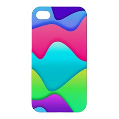 Lines Curves Colors Geometric Lines Apple Iphone 4/4s Premium Hardshell Case by Nexatart