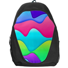 Lines Curves Colors Geometric Lines Backpack Bag by Nexatart