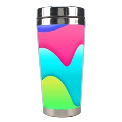 Lines Curves Colors Geometric Lines Stainless Steel Travel Tumblers