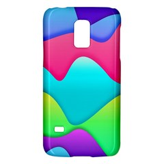Lines Curves Colors Geometric Lines Samsung Galaxy S5 Mini Hardshell Case