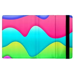 Lines Curves Colors Geometric Lines Apple Ipad Pro 12 9   Flip Case