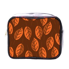 Pattern Leaf Plant Decoration Mini Toiletries Bags by Nexatart