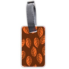 Pattern Leaf Plant Decoration Luggage Tags (one Side)  by Nexatart