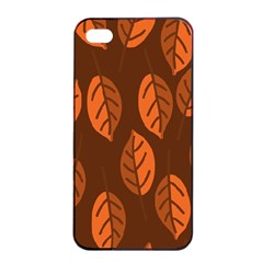 Pattern Leaf Plant Decoration Apple Iphone 4/4s Seamless Case (black)