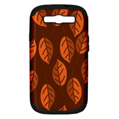 Pattern Leaf Plant Decoration Samsung Galaxy S Iii Hardshell Case (pc+silicone)