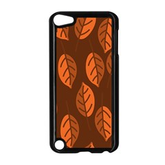 Pattern Leaf Plant Decoration Apple Ipod Touch 5 Case (black) by Nexatart