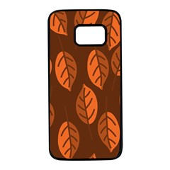 Pattern Leaf Plant Decoration Samsung Galaxy S7 Black Seamless Case