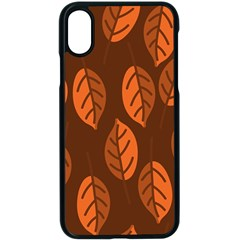 Pattern Leaf Plant Decoration Apple Iphone X Seamless Case (black) by Nexatart