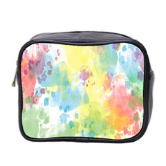 Abstract Pattern Color Art Texture Mini Toiletries Bag 2 Side by Nexatart