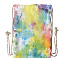 Abstract Pattern Color Art Texture Drawstring Bag (large) by Nexatart