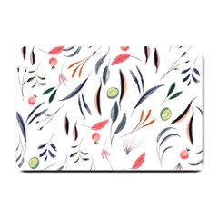 Watercolor Tablecloth Fabric Design Small Doormat