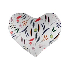 Watercolor Tablecloth Fabric Design Standard 16  Premium Heart Shape Cushions