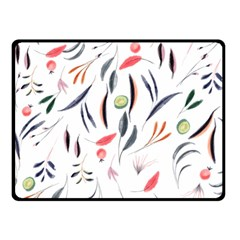 Watercolor Tablecloth Fabric Design Double Sided Fleece Blanket (small)