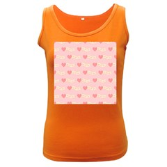 Heart Love Pattern Women s Dark Tank Top by Nexatart
