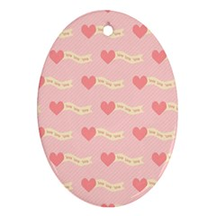 Heart Love Pattern Oval Ornament (two Sides) by Nexatart