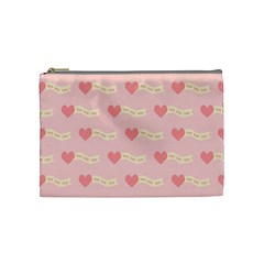 Heart Love Pattern Cosmetic Bag (medium) by Nexatart