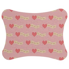 Heart Love Pattern Jigsaw Puzzle Photo Stand (bow)