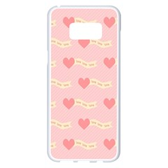 Heart Love Pattern Samsung Galaxy S8 Plus White Seamless Case