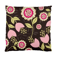 Flowers Wallpaper Floral Decoration Standard Cushion Case (two Sides) by Nexatart