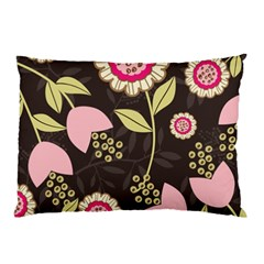 Flowers Wallpaper Floral Decoration Pillow Case by Nexatart